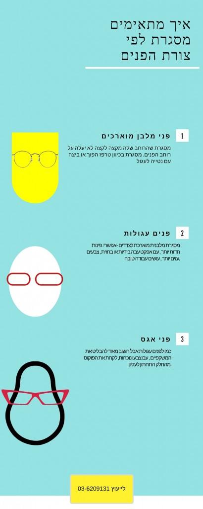 התאמת משקפיים לפנים